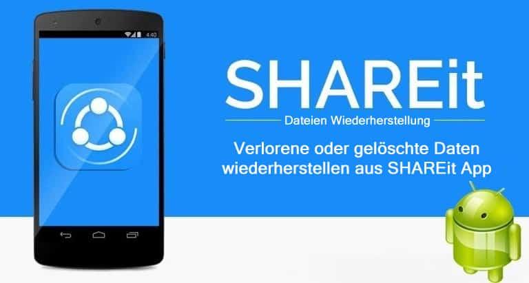 SHAREit App Daten Wiederherstellung